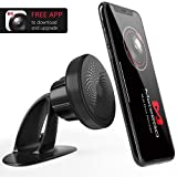 Magnetic Phone Holder Car Mount - Universal 360°Rotation Dashboard GPS Pickup Truck Mount Holder with Free Dash Cam APP Compatible Phone X/8/7 Plus/S9/S8 Plus