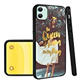 The Queen of Fucking Everything iPhone 11 Phone Case Black TPU Protective case Shockproof Non-Slip Soft Designed The Queen of Fucking Everything case for iPhone 11
