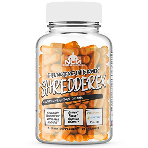 SHREDDEREX - Thermogenic Fat Burner - Energy and Mood Enhancers for Men and Women - Weight Loss Diet Pills with Energy - Green Tea Extract and Bioperine - Keto Friendly, 60 Servings