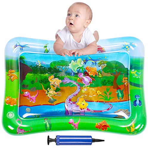 iyesku Inflatable Tummy Time Mat, Baby Water Play Mat for 3 6 9 12 Months Newborn Infant & Toddlers, Baby Fun Tummy Time, Strengthen Babies' Muscles in Daily Fun Time, Baby Girl & Boy Toy Gifts