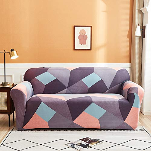 ASCV Fundas Protectoras de sofá con Estampado de Cuerdas para Sala de Estar Funda elástica elástica Fundas de sofá seccionales de Esquina A4 4 plazas