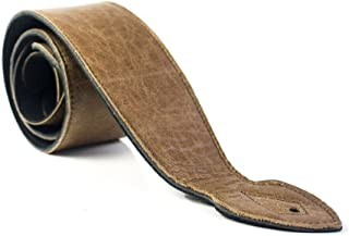 LeatherGraft Genuine Leather Extra Soft 3 Inch Wide Padded Guitar Strap - For all Electric, Acoustic, Classical and Bass G...