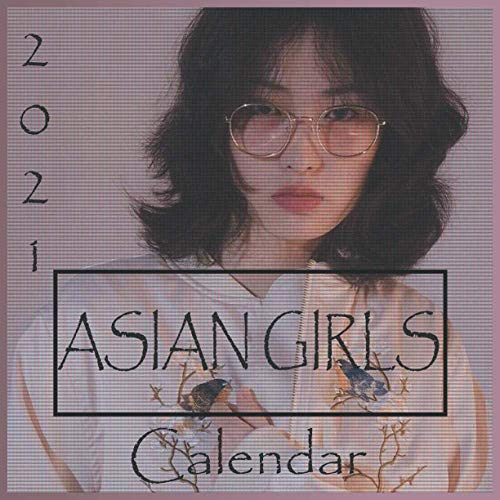 Asian Girls 2021 Calendar: 8.5 x 8.5 inch monthly square wall calendar - Cute girls - 36 pages ( January 2021 - April 2022 )