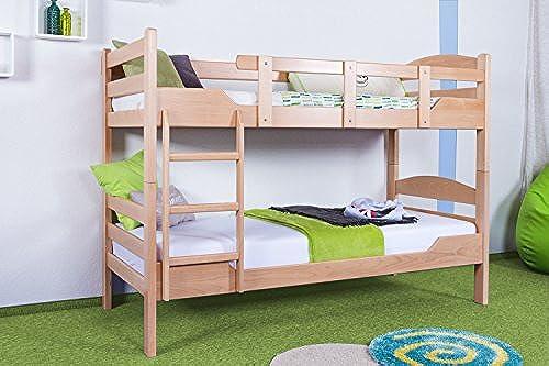 Etagenbett Stückbett Easy Premium Line  K3 n 1, Buche Vollholz massiv Natur - Ma  90 x 200cm  , teilbar