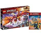 Collectix Lego Set – Ninjago Kais Feuerdragón 71753 + Ninjago Romper diversión para Ninja fuerte (Softcover )