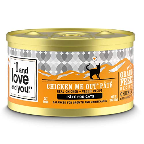 """I and love and you"" Naked Essentials Canned Wet Cat Food - Grain Free, Chicken Recipe, 3-Ounce, Pack of 24 Cans"