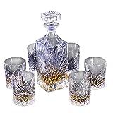 SuDeLLong Whiskygläser und Dekanter-Set, Glas, Whisky-Karaffe und Becher, für Zuhause, Restaurants...