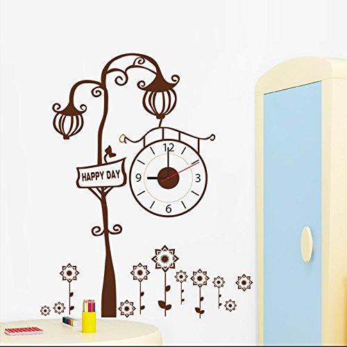 GYHTXHJPET muurstickers, creatief, mode, muurstickers, milieubescherming, schilderen, decoratie van het huis, vliegtuig, decoratief papier, documenten, informatie Breeze Brown bij Vogue in Noord-Europa, boom wandklok, wandvloer papier