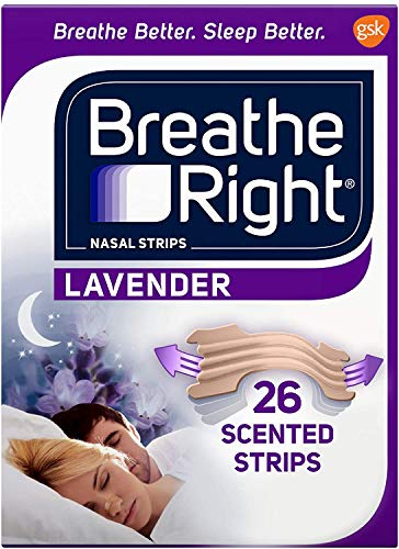 Breathe Right Strips Nasal Strips, Lavender, 26 Count(pack of 3)total 78