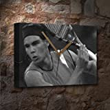 RAFAEL NADAL - Canvas Clock (LARGE A3 - Signed by the Artist