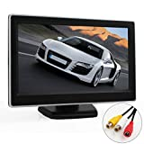 ePathChina? 5 Inch TFT-LCD Security Digital Car View Monitor with Car Rear View Cameras 2 Video Input,High -resolution Picture & Full Color LCD Backlight Display For Car DVD/camera/VCD/GPS/other video equipment