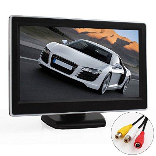 EPathChina Écran numérique TFT-LCD de sécurité pour voiture fonction avec caméra de recul comprend 2 entrées vidéo image couleur HD écran LCD rétro-éclairé compatible avec équipements vidéos/DVD/appareil photo/VCD/GPS 5\
