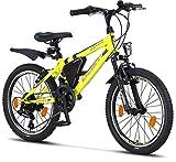 Licorne Bike Guide Bicicleta de montaña de 20 Pulgadas, Adecuada para 6,7,8,9 años, Cambio de Marchas Shimano de 18 velocidades, suspensión de Horquilla, Bicicleta Infantil, Bicicleta de niño de niña