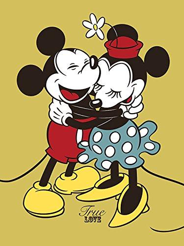Mouse di Mickey Minnie & amp; 80 x 60 cm) Stampa su tela design True Love