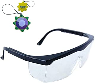 HQRP Clear Tint UV Protective Safety Glasses Goggles for Lab Chemistry Courses Science Class in School High School College Laboratory Work Plus HQRP UV Meter