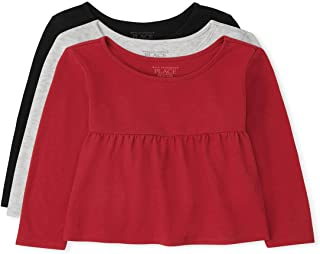 The Children's Place Baby Toddler Girl Long Sleeve Tops 3-Pack