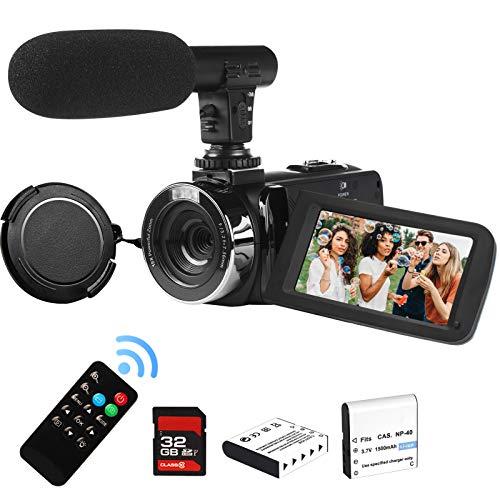 2,7K Videokamera Camcorder GDV1302 Wiederaufladbar Digitale Vlogging-Kamera 18X Digitalzoom FHD 42MP DV 3