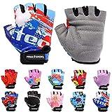 Meteor Unisex Kinder Fahrradhandschuhe Bike - Gel BMX Handschuhe, BLUE, Gr.-Jr S/ Handweite- 6.5-7cm