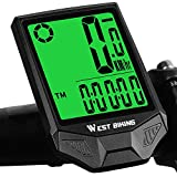CYCLESPEED Wireless Bike Computer Waterproof Bicycle Speedometer Odometer, Support Smart SensorLCD Backlight Display Automatic Wake-up for MTB Road Cycling(18 Functions, Ordinary Bracket)
