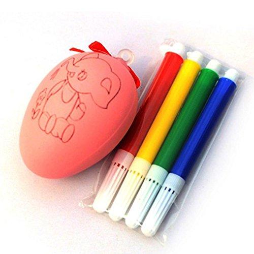 Tefamore Eau de couleur Pen & Egg enfants bricolage peinture Jouet d'oeufs de couleur