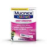 Mucinex Children's Chest Congestion Relief (Bubblegum, Pack of 3)