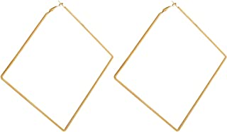 Extra Large Square Hoop Earrings for Women Metal Dangle Earring