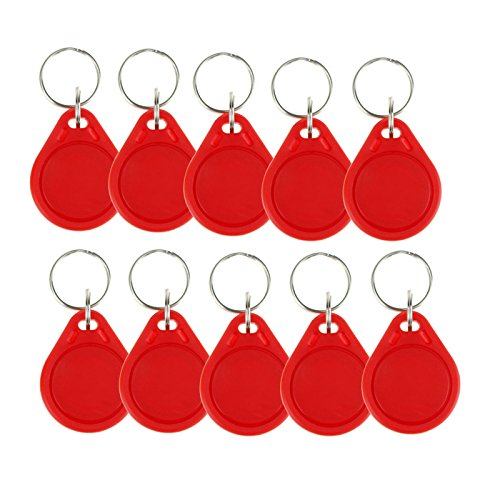 OBO Hands (Pack of 100) Waterproof ABS 13.56MHz ISO14443A MIFARE Classic 1K NFC RFID Token,RFID Keyfob,RFID Tag (Red)