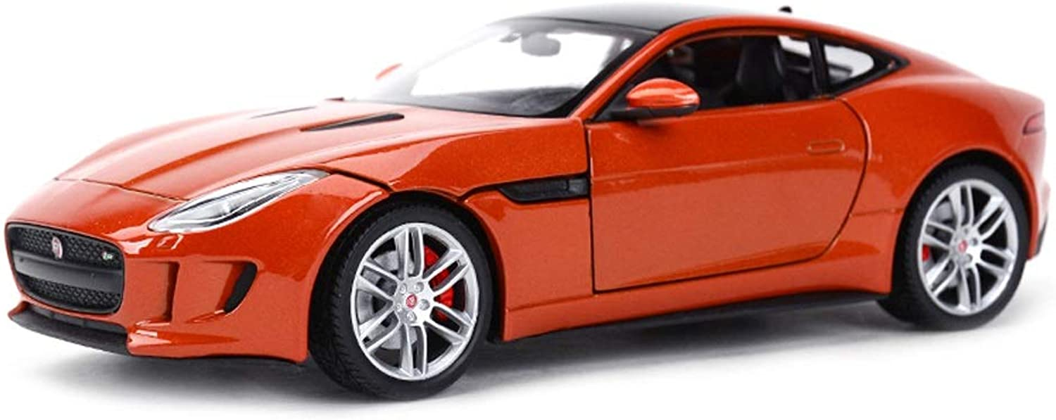 Model car Model Car Jaguar FTYPE Model 1 24 Scale Model Diecasting Model Alloy Model Collection Decorative Gift Jewelry (color   orange)