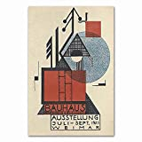 Carteles e impresiones Bauhaus Ausstellung 1923 Weimer exposición póster cuadro de arte de pared familia sin marco lienzo pintura R 50x75cm