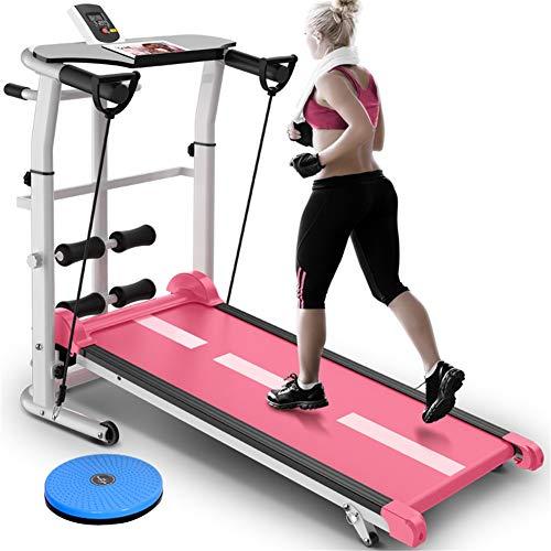 DUDM con Schermo HD Tappeto da Corsa Fitness Multifunzione Meccanico Running Machine for Home Inclinazione + Pieghevole Tapis Roulant Silenzioso Enorme Superficie di CorsaB-110x115x55cm(43x45x22inch)