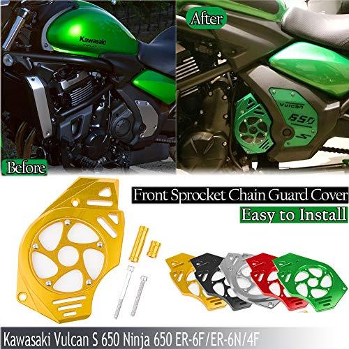 XX eCommerce Motorrad CNC Kettenblattschutz Kettenschutz für Kawasaki ER6N ER4F ER6F VERSYS650 VN650 von Hartford Diablo (Gold)
