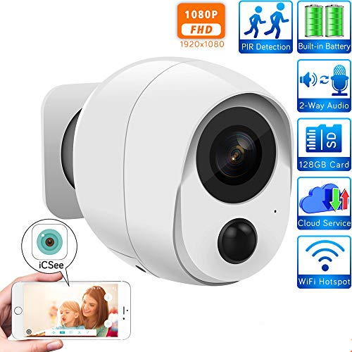 1080P Wireless Battery WiFi IP Camera met PIR Human Sensor SD-Card Cloud Audio Alarm CCTV Home Security Security Camera 1080P-64GB+battery