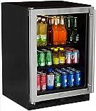 Marvel ML24BCG0LS Beverage Center, Stainless Frame Glass Door, Left Hinge, 24-Inch, Stainless Steel