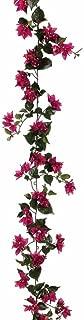 Floral Home Silk Bougainvillea Garland in Deep Pink - 6' Long