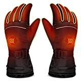 LUWATT Heated Gloves 8H Working Hours Rechargeable Lithium...