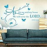 Pegatinas de Pared en Cuanto a mi Propia casa, serviremos Joshua Jehovah salón Comedor baño Dormitorio Pasillo vivero 72x42cm