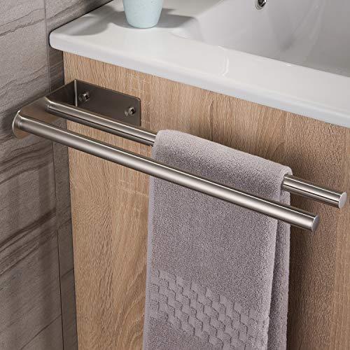 Ruicer Handtuchhalter Zweiarmig Edelstahl Handtuchstange Doppelt Handtuchständer 40 cm Wandmontage
