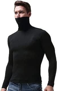 Men's Slim Fit Stretchy Lightweight Turtleneck T-Shirt Thermal Undershirt