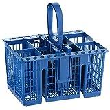 MasterPart - Cesta de cubiertos para lavavajillas Indesit (8 compartimentos), color azul