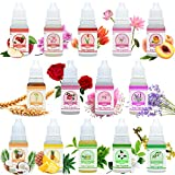 Soap Fragrance Oil - 14 Soap Making Scents Set for Bath Bomb Aroma, Soap Making Supplies, DIY Slime - Concentrated Food Grade Bath Bomb Scents for Cosmetic, Art, Handmade Crafts - 10ml / 0.35oz Each