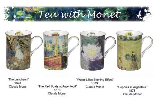 Tazze decorate con i dipinti di Claude Monet, 4 pezzi