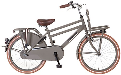 22 inch Popal Daily Dutch Basic 2288 jongens Holland fiets, kleur: grijs