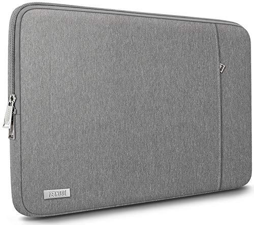 """TECOOL Housse Ordinateur Portable pour 14 Pouces HP Lenovo Acer Dell ASUS Chromebook, MacBook Pro 15, 15"""" Surface Laptop 3 Sacoche Pochette de Protection Complète, Gris"""