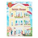 Depesche- Libro para Colorear Create Your Sweet Home, Aprox. 30 x 22 x 0,5 cm, con 24 páginas ilustradas de Colores y 3 Pegatinas de Doble Cara (11415)