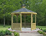 Fifthroom Markets Garden Gazebo Octagon 12 Foot - Treated Pine Outdoor...