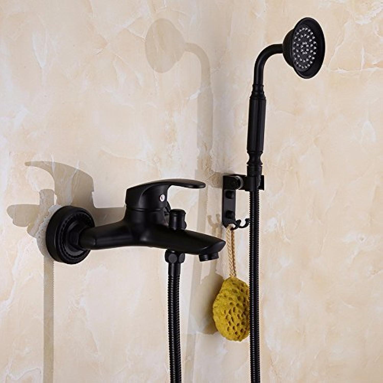Europische schwarze Dusche Wasserhahn aufgeladenen wc Edelstahl antiken Dusche, D