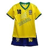 Default BNWT Ensemble short et maillot de football d'été pour garçons et filles Taille 2-14ans, Brésil., 2-3 ans
