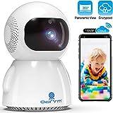 WLAN IP Kamera,1080P FHD WiFi Überwachungskamera,Smart Home Haustier Kamera,Baby Monitor mit Zwei-Wege-Audio,Automatischer Verfolgung,Verbesserte Nachtsicht,Bewegungserkennung und Cloud Service