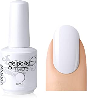 Vishine Gelpolish Professional UV LED Soak Off Varnish Color Gel Nail Polish Manicure Salon Pure White (1433)