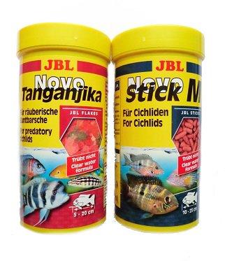 Aquarium Rio JBL Tanganjika Futter Set Novo Tanganjika 250ml & JBL Novo Stick M 250ml